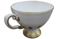 Giant White Tea Cup Over Sized Statue - LM Treasures Life Size Statues & Prop Rental