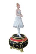 Ballerina Dancer on Music Box Resin Prop Decor Statue - LM Treasures Life Size Statues & Prop Rental
