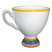 White Tea Cup Over Sized Statue - LM Treasures