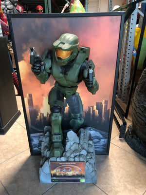Rare Halo Master Chef Life Size Statue 3ft Wall Decor - LM Treasures Life Size Statues & Prop Rental