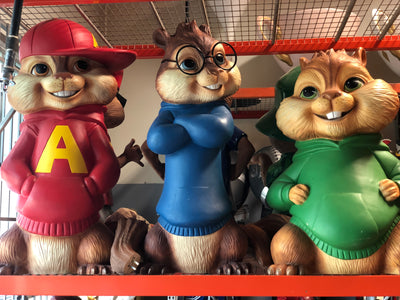 Alvin And The Chipmunks Life Size Statue Original Version - LM Treasures Life Size Statues & Prop Rental
