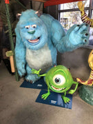 Monsters Inc. Mike & Sully Life Size Statue Movie Display - Pre Owned