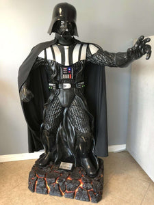 Star Wars Darth Vader Anakin Skywalker Life Size Statue Light Up Disney - LM Treasures