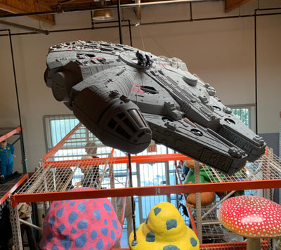 Star Wars Millennium Falcon Toys R Us Display Life Size Statue - LM Treasures Life Size Statues & Prop Rental