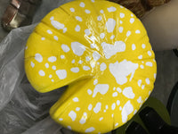 Yellow Single Split Mushroom Stool Over Sized Statue - LM Treasures