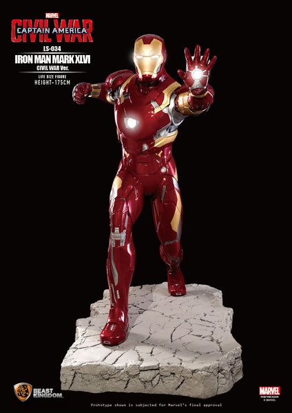 Iron Man Mark XLVI Civil War Life Size Statue - LM Treasures