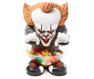Candy Bowl Holder Halloween IT Pennywise Mini Half Foam Licensed Statue - LM Treasures Life Size Statues & Prop Rental
