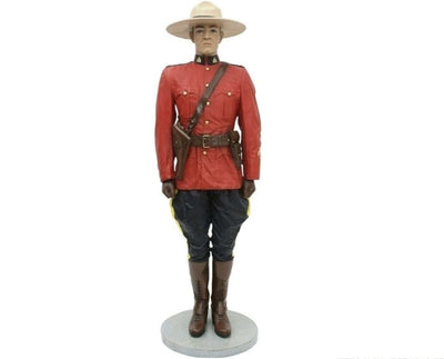 Policeman Canadian Life Size Movie Prop Decor Statue - LM Treasures Life Size Statues & Prop Rental