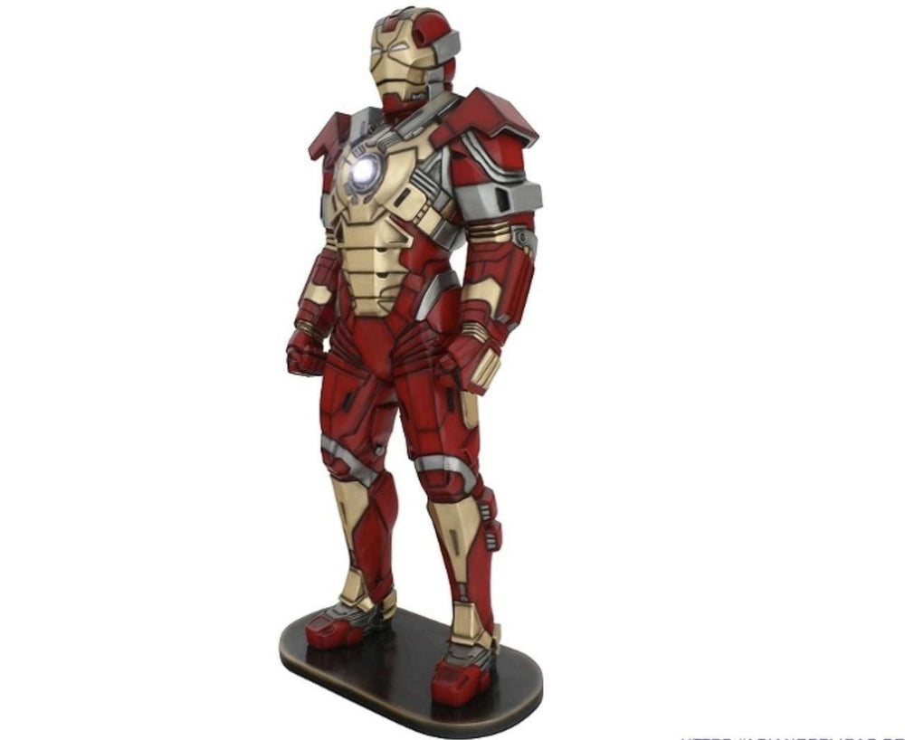 Red Metal Super Hero Life Size Statue - LM Treasures Life Size Statues & Prop Rental