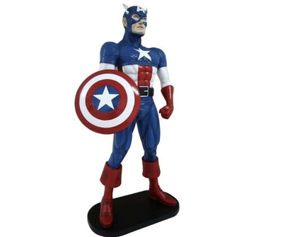Hero American Captain Life Size  Movie Prop Decor Statue - LM Treasures Life Size Statues & Prop Rental