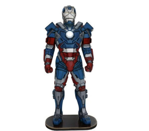 Hero Metal Man Patriot Life Size  Movie Prop Decor Statue - LM Treasures Life Size Statues & Prop Rental