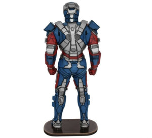 Blue Metal Super Hero Life Size Statue - LM Treasures Life Size Statues & Prop Rental