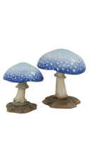 Small Blue Mushroom Over Sized Statue - LM Treasures Life Size Statues & Prop Rental