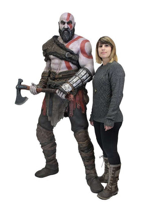 God of War Life-Size Foam Replica Figure Kratos Viking - LM Treasures Life Size Statues & Prop Rental