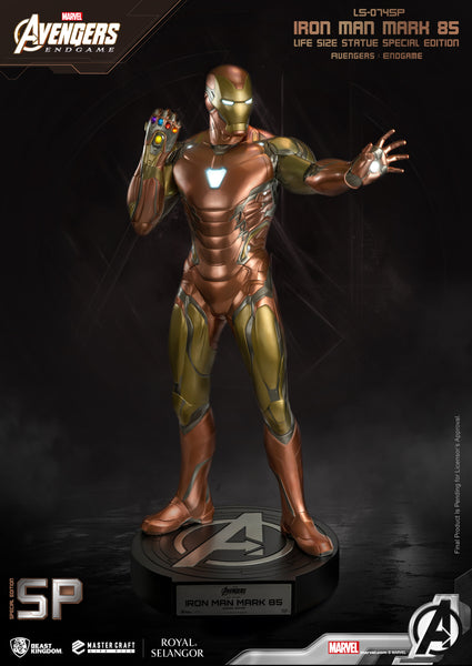 Avengers: Endgame Iron Man Mark 85 Special Edition Life Size Statue - LM Treasures