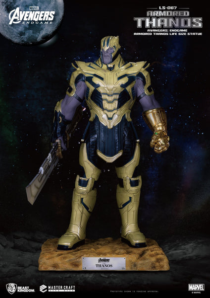 Avengers : Endgame Armored Thanos Life Size Statue - LM Treasures Life Size Statues & Prop Rental