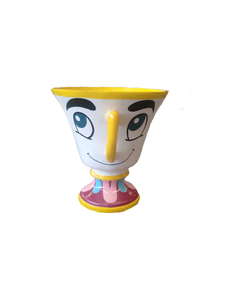 Tea Cup With Face Over Sized Statue - LM Treasures