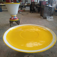 Saucer For Tea Cup Over Sized Statue - LM Treasures