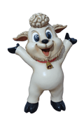 Comic Lamb Standing Prop Resin Display Decor Statue - LM Treasures Life Size Statues & Prop Rental