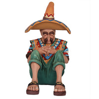 Cowboy Mexican on Siesta Western Display Prop Decor Resin Statue - LM Treasures Life Size Statues & Prop Rental