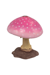 Small Pink Mushroom Over Sized Statue - LM Treasures Life Size Statues & Prop Rental