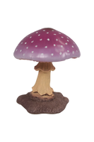 Small Purple Mushroom Over Sized Statue - LM Treasures Life Size Statues & Prop Rental