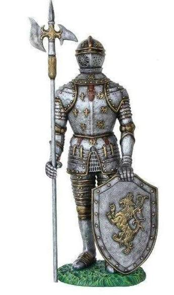 Medieval Knight With Ax Life Size Statue - LM Treasures Life Size Statues & Prop Rental