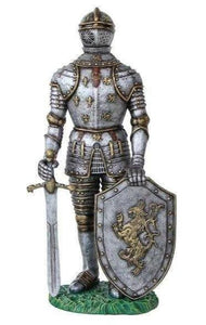 Medieval Knight With Sword Life Size Statue - LM Treasures Life Size Statues & Prop Rental