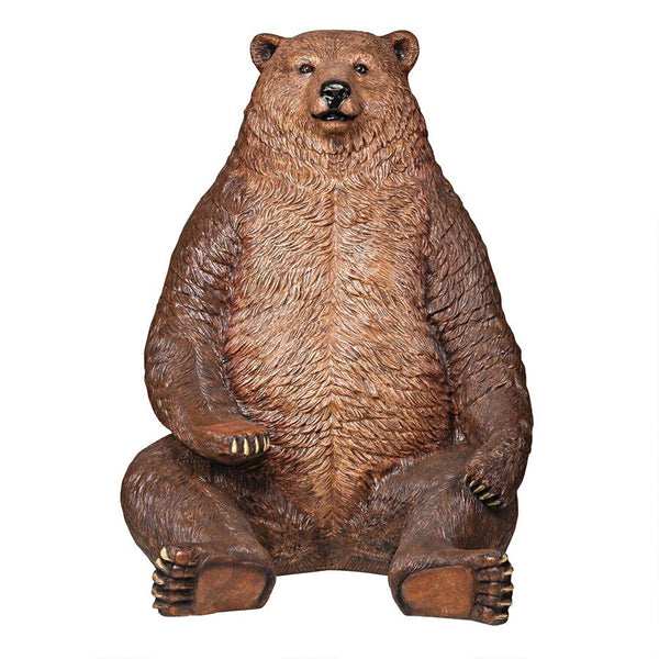 Jumbo Brown Grizzly Bear Life Size Statue - LM Treasures Life Size Statues & Prop Rental