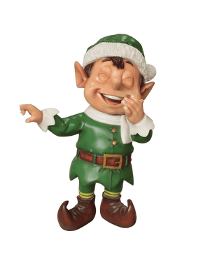Elf Pointing (Green) - LM Treasures Life Size Statues & Prop Rental