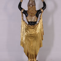 Egyptian Plant Holder Female Life Size Statue - LM Treasures