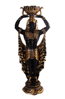 Small Male Egyptian Plant Holder 4' Size Statue - LM Treasures Life Size Statues & Prop Rental