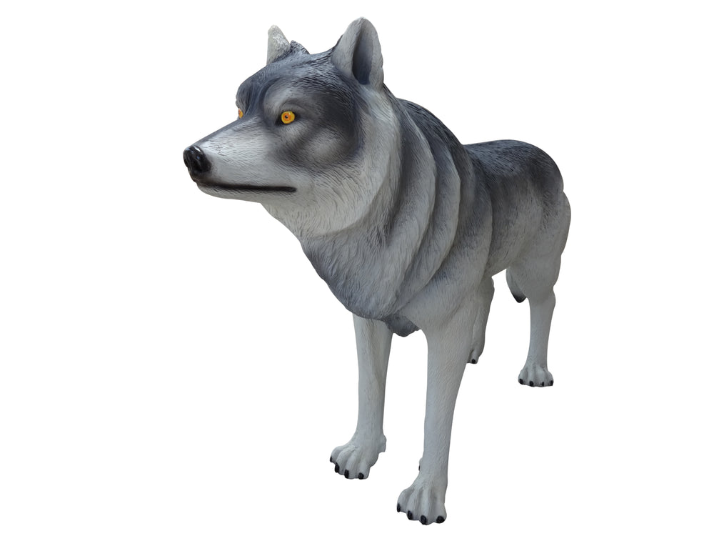 Wolf  Life Size Statue - LM Treasures Life Size Statues & Prop Rental