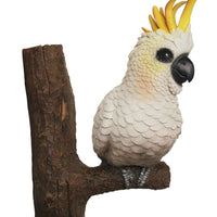 Bird Cockatoo On Branch Animal Prop Life Size Resin Statue - LM Treasures Life Size Statues & Prop Rental