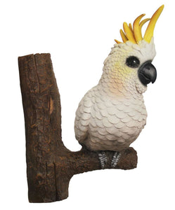 Bird Cockatoo On Branch Animal Prop Life Size Resin Statue - LM Treasures