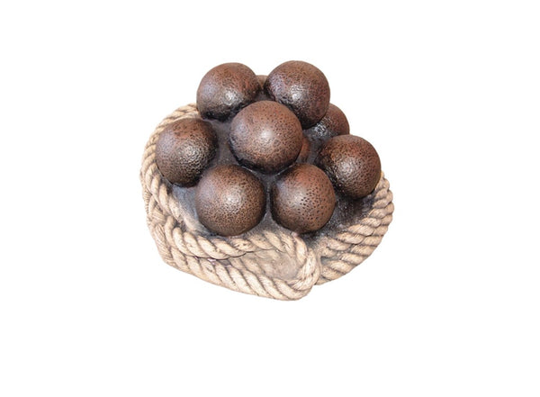 Pirate Prop Cannon Balls And Rope Statue Pirate Prop Resin Decor - LM Treasures Life Size Statues & Prop Rental