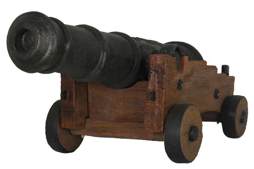 Pirate Cannon With Base # 1 Life Size Statue Resin Decor - LM Treasures Life Size Statues & Prop Rental