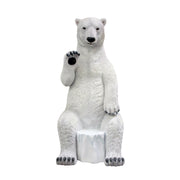 Bear Polar Sitting Waving Animal Prop Life Size Decor Resin Statue - LM Treasures Life Size Statues & Prop Rental