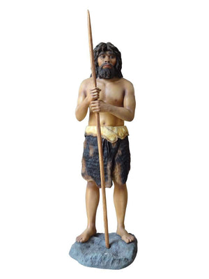 Cave Man 1 Prehisoric Display Prop Life Size Statue- LM Treasures
