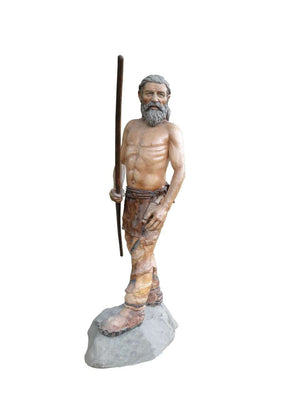 Cave Man 2 Prehisoric Display Prop Life Size Statue- LM Treasures