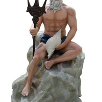 Neptune On Rock Life Size Statue - LM Treasures