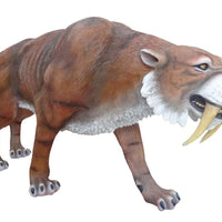 Dinosaur Tiger Saber Tooth Prehistoric Prop Resin Statue - LM Treasures Life Size Statues & Prop Rental