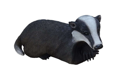 Rodent Badger Laying Life Size Prop Decor Resin Statue - LM Treasures Life Size Statues & Prop Rental