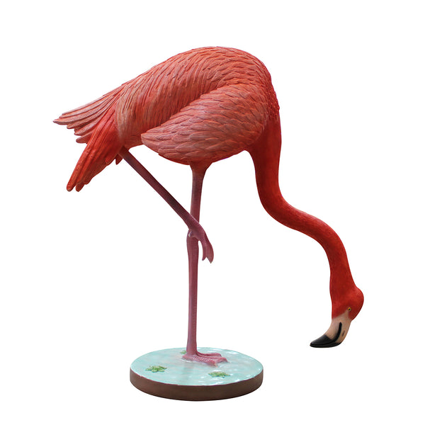 Flamingo Head Down Life Size Statue - LM Treasures Life Size Statues & Prop Rental