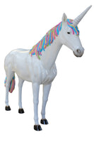 Rainbow Unicorn Life Size Statue - LM Treasures