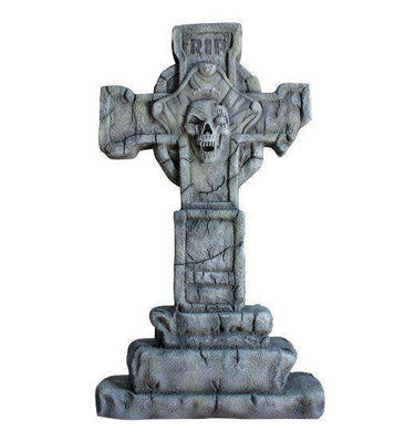 Pirate Prop Captain Cross Tombstone Statue Resin Nautical Decor - LM Treasures Life Size Statues & Prop Rental