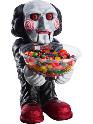 Candy Bowl Holder Halloween Jigsaw Billy Half Foam Licensed Statue - LM Treasures Life Size Statues & Prop Rental