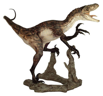 Jurassic World Velociraptor (Open Jaw) Deinonychos Life Size Statue - LM Treasures Life Size Statues & Prop Rental