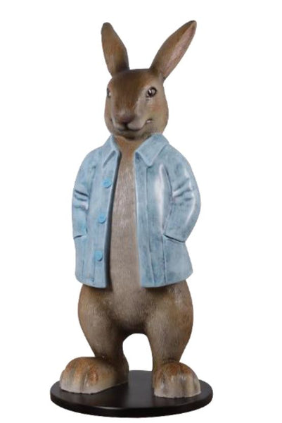 Rob The Bunny Rabbit With Long Jacket Life Size Statue - LM Treasures Life Size Statues & Prop Rental