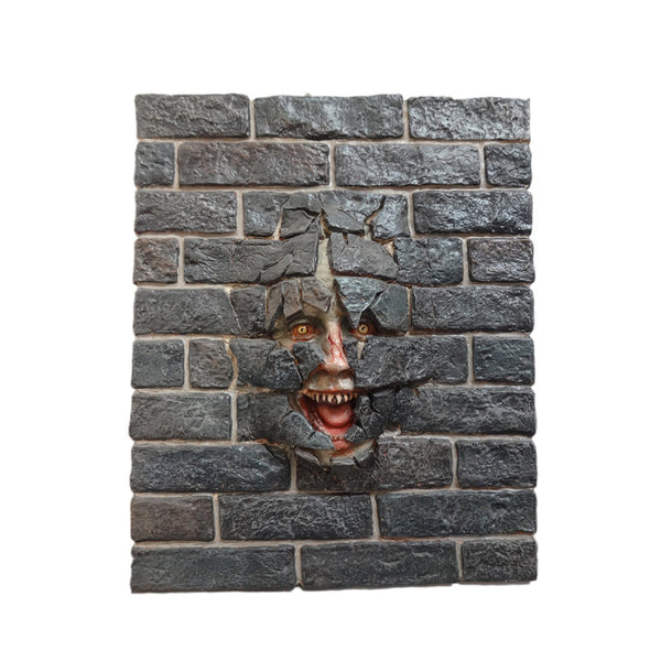 Wall Decor Brick Scary Face - LM Treasures Life Size Statues & Prop Rental